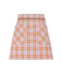Miu Miu   Multicolor Embellished Wool-blend Skirt   Lyst
