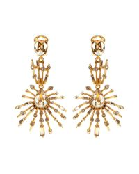 Oscar de la Renta - Metallic Crystal-embellished Earrings - Lyst
