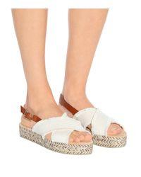 Castaner - Natural Walkyria Canvas Sandals - Lyst
