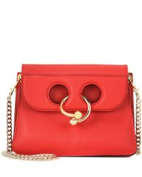 J.W. Anderson - Red Mini Pierce Leather Shoulder Bag - Lyst