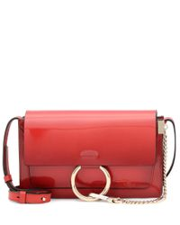 Chloé - Red Faye Small Patent Leather Shoulder Bag - Lyst