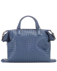 Bottega Veneta | Blue Intrecciato Leather Tote | Lyst