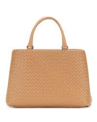 Bottega Veneta - Brown Intrecciato Leather Tote - Lyst