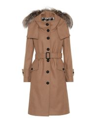 Burberry - Natural Claybrooke Wool-blend Coat - Lyst