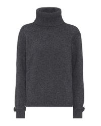 Prada - Gray Cashmere And Wool Sweater - Lyst