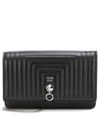 Fendi - Black Small Flap Leather Shoulder Bag - Lyst