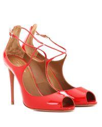 Aquazzura - Red Zani 105 Patent Leather Pumps - Lyst