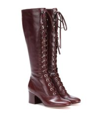 Gianvito Rossi - Brown Mackay Leather Boots - Lyst