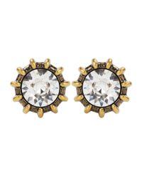 Gucci - Metallic Crystal Earrings - Lyst