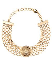 Balmain - Metallic Golden Choker - Lyst