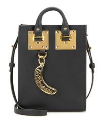 Sophie Hulme - Black Nano Albion Leather Tote - Lyst
