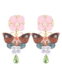 Dolce & Gabbana - Multicolor Crystal And Leather-embellished Clip-on Earrings - Lyst
