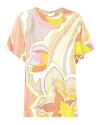 Emilio Pucci - Yellow Printed Silk Top - Lyst