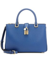 Dolce & Gabbana - Blue Dolce Shopping Small Leather Cross-body Bag - Lyst