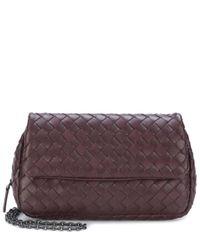 Bottega Veneta - Purple Intrecciato Leather Shoulder Bag - Lyst