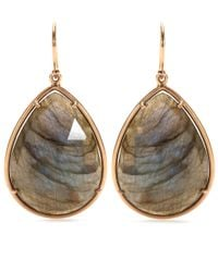 Irene Neuwirth | Metallic 18kt Rose Gold Earrings With Rose Cut Labradorite | Lyst