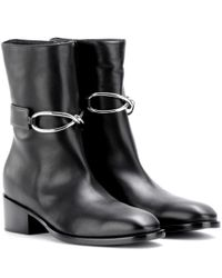 Balenciaga - Black Leather Boots - Lyst