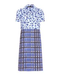 Marc By Marc Jacobs | Blue Aki Flower Printed Crepe Dress | Lyst