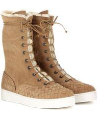 Bottega Veneta | Brown Suede Boots | Lyst