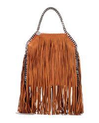Stella McCartney   Brown Falabella Mini Fringed Shoulder Bag   Lyst
