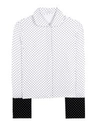 J.W.Anderson | White French Cuff Polka-dot Crêpe Shirt | Lyst