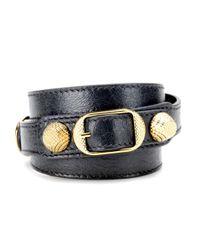 Balenciaga - Blue Giant Leather Bracelet - Lyst