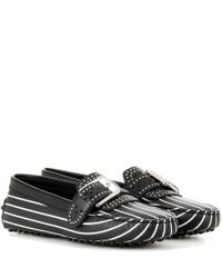 Tod's - Black Gommini Rodeo Printed Leather Loafers - Lyst
