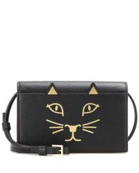 Charlotte Olympia | Black Feline Purse Leather Shoulder Bag | Lyst