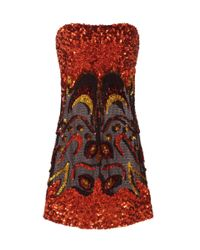 Tom Ford | Red Sequin-embellished Mini Dress | Lyst
