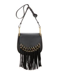 Chloé - Black Hudson Leather And Suede Shoulder Bag - Lyst