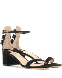 Ferragamo   Multicolor Connie Embellished Suede Sandals   Lyst