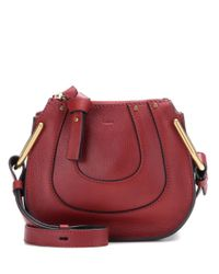 Chloé - Red Nano Hayley Leather Shoulder Bag - Lyst