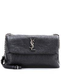Saint Laurent | Black Classic Monogram Leather Shoulder Bag | Lyst
