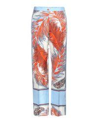 Emilio Pucci - Multicolor Printed Silk Trousers - Lyst