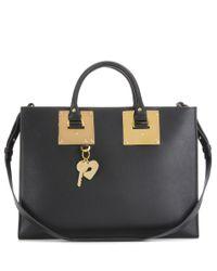 Sophie Hulme | Black East West Albion Leather Shoulder Bag | Lyst