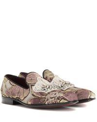 Dolce & Gabbana | Multicolor Embellished Jacquard Loafers | Lyst