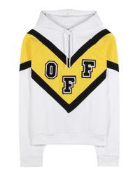 Off-White c/o Virgil Abloh Yellow Cotton Hoodie