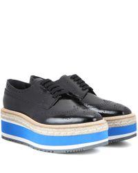Prada | Multicolor Wingtip Platform Leather Brogues | Lyst