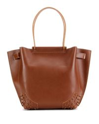 Tod's - Brown Gommini Small Leather Tote - Lyst