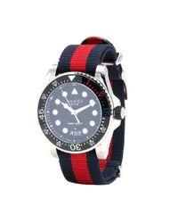 Gucci | Blue Gg2570 Watch | Lyst