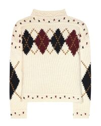 Isabel Marant - Natural Glens Wool And Alpaca Sweater - Lyst