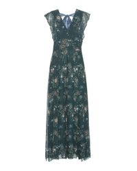 See By Chloé - Green Printed Dress - Lyst