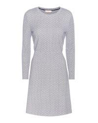 Tory Burch | Gray Printed Jersey Dress | Lyst