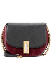 Marc Jacobs | Gray West End Jane Leather And Suede Crossbody Bag | Lyst