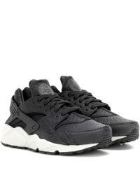 Nike | Black Air Huarache Run Premium Sneakers | Lyst