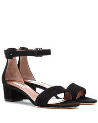 Tabitha Simmons - Black Virginia Ari Suede Open-toe Sandals - Lyst