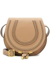 Chloé   Natural Marcie Small Leather Shoulder Bag   Lyst