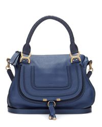 Chloé | Blue Marcie Medium Leather Tote | Lyst