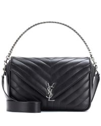 Saint Laurent | Black Monogram Large Leather Shoulder Bag | Lyst