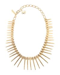 Oscar de la Renta | Metallic Spike Necklace | Lyst